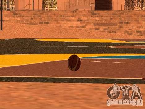 Новый баскетбольный мяч фирмы Molten для GTA San Andreas четвёртый скриншот