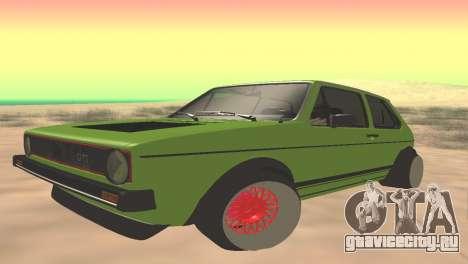 Volkswagen Golf Mk1 Low для GTA San Andreas
