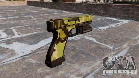 Пистолет Glock 20 WoodLand для GTA 4 второй скриншот