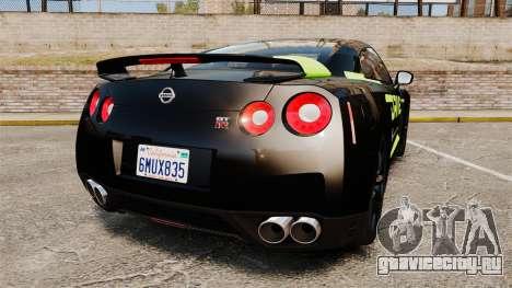 Nissan GT-R Black Edition 2012 Drive для GTA 4 вид сзади слева