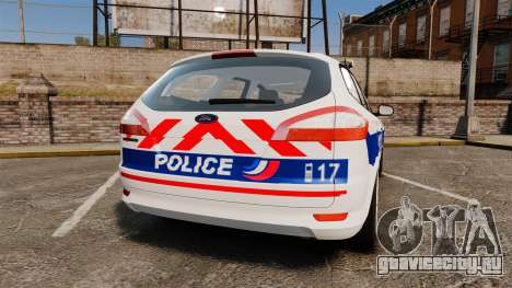 Ford Mondeo IV Wagon Police Nationale [ELS] для GTA 4 вид сзади слева