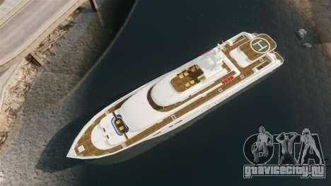 Полноценная яхта для GTA 4 вид справа