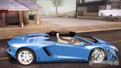 Lamborghini Aventador Roadster для GTA San Andreas вид слева