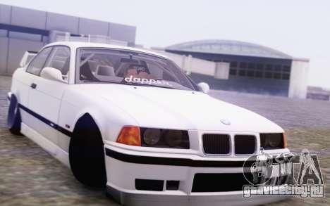 BMW M3 E36 Hellaflush для GTA San Andreas вид сзади