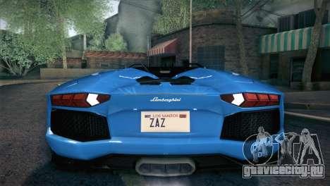 Lamborghini Aventador Roadster для GTA San Andreas колёса