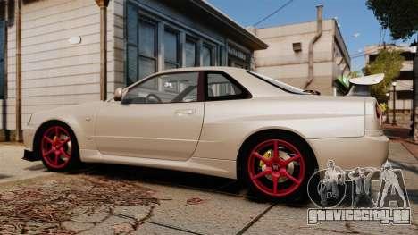 Nissan Skyline GT-R R34 V-Spec II для GTA 4 вид слева