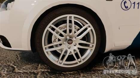 Audi S4 Avant Hungarian Police [ELS] для GTA 4 вид сзади