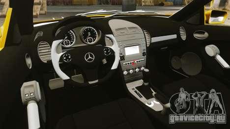 Mercedes-Benz SLK 55 AMG 2014 v1.4 для GTA 4 вид изнутри