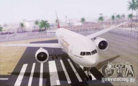 Emirates Airlines 777-200 для GTA San Andreas вид слева