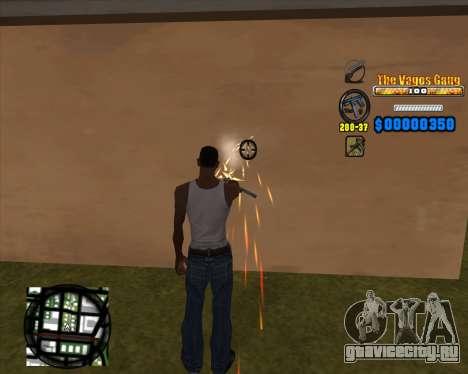 C-HUD Los Santos Vagos Gang для GTA San Andreas третий скриншот