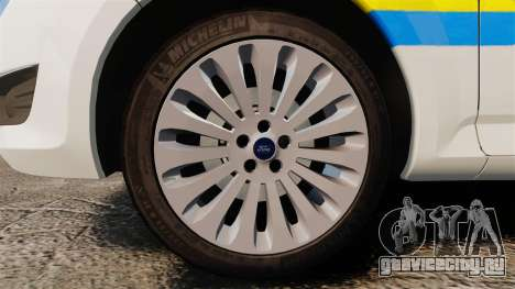Ford Mondeo Croatian Police [ELS] для GTA 4 вид сзади