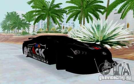 Lexus LFA Street Edition Djarum Black для GTA San Andreas