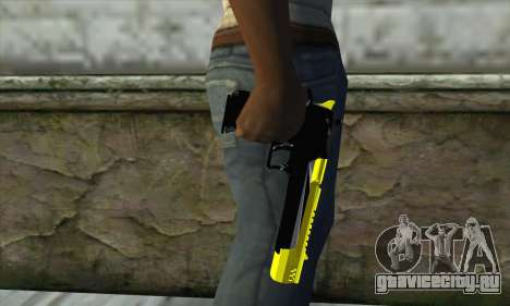 Yellow Desert Eagle для GTA San Andreas третий скриншот