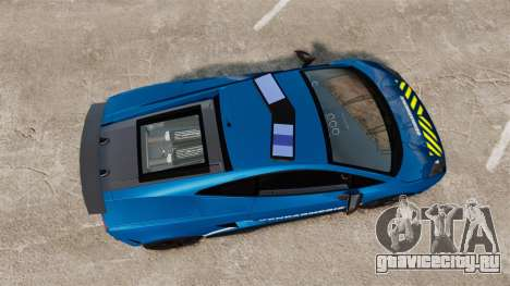 Lamborghini Gallardo Gendarmerie National [ELS] для GTA 4 вид справа