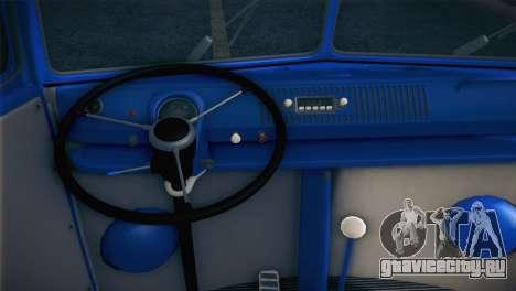 Volkswagen T1 Milicija для GTA San Andreas вид сзади