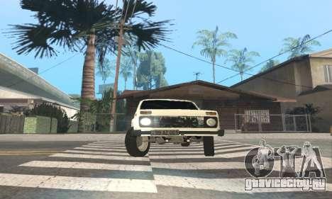 ВАЗ 21214 Avtosh для GTA San Andreas вид изнутри