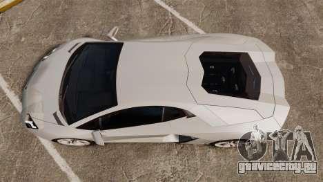 Lamborghini Aventador LP700-4 2012 [EPM] v1.1 для GTA 4 вид справа