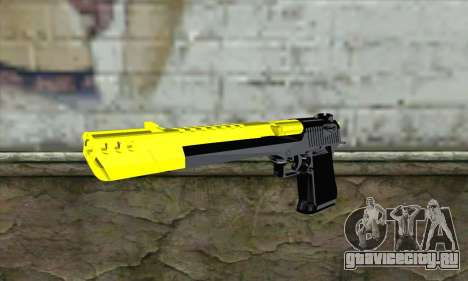 Yellow Desert Eagle для GTA San Andreas