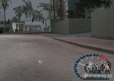 Спидометр из NFS Underground для GTA Vice City третий скриншот