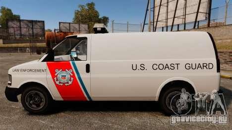 Vapid Speedo U.S. Coast Guard для GTA 4 вид слева