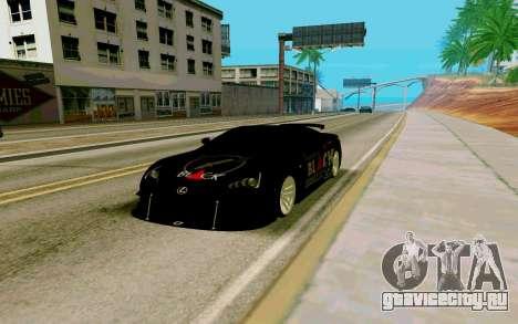 Lexus LFA Street Edition Djarum Black для GTA San Andreas вид справа