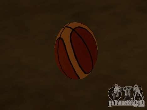 Новый баскетбольный мяч фирмы Molten для GTA San Andreas второй скриншот
