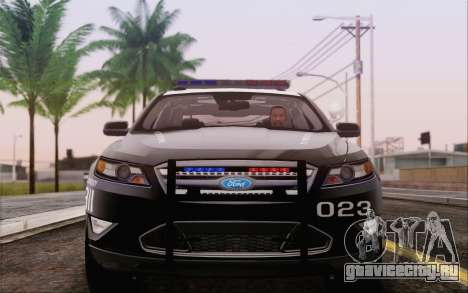Ford Taurus Police для GTA San Andreas вид сзади слева