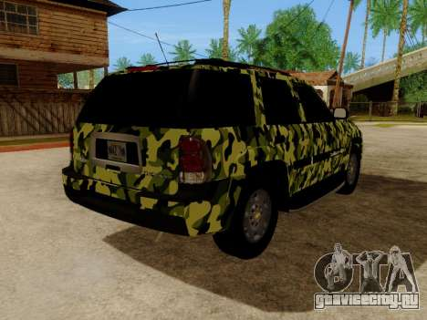Chevrolet TrailBlazer Army для GTA San Andreas вид сзади