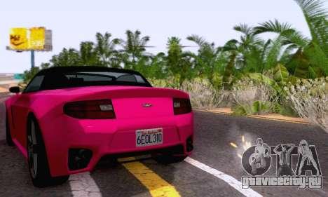 GTA V Rapid GT Cabrio для GTA San Andreas вид изнутри