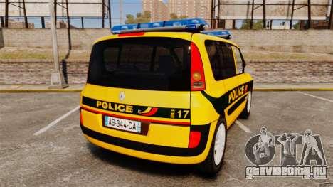 Renault Espace Police Nationale [ELS] для GTA 4 вид сзади слева