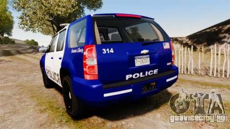 Chevrolet Tahoe 2008 LCPD [ELS] для GTA 4 вид сзади слева