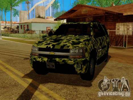 Chevrolet TrailBlazer Army для GTA San Andreas вид сбоку