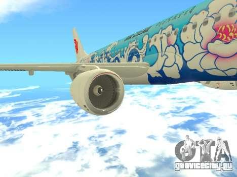 Airbus A320 Air China для GTA San Andreas салон