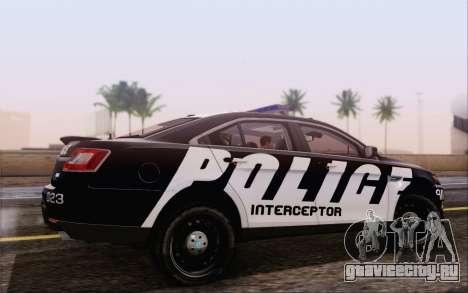 Ford Taurus Police для GTA San Andreas вид слева