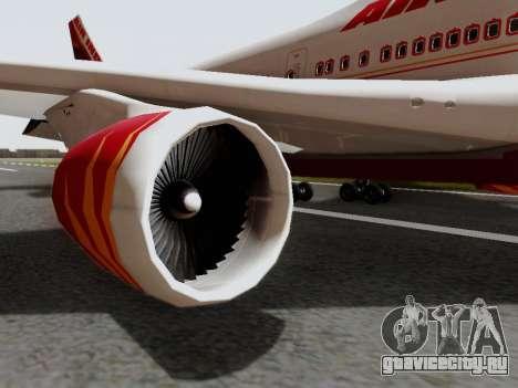 Boeing 747 Air India для GTA San Andreas вид справа