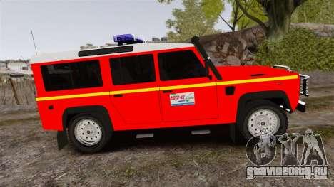 Land Rover Defender VLHR SDIS 42 [ELS] для GTA 4 вид слева