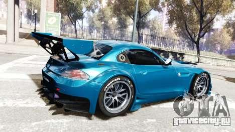 BMW Z4 GT3 2012 для GTA 4 вид сзади