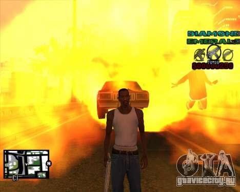 C-HUD Diamond Emerald для GTA San Andreas третий скриншот