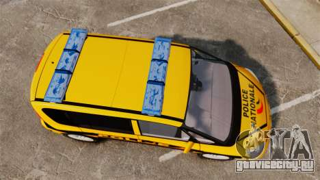 Renault Espace Police Nationale [ELS] для GTA 4 вид справа