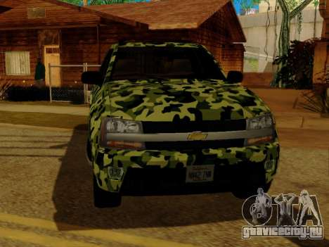 Chevrolet TrailBlazer Army для GTA San Andreas вид изнутри