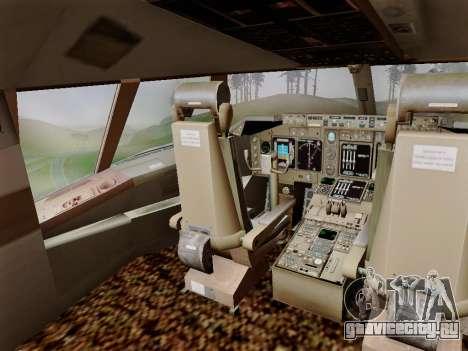 Boeing 747 Air India для GTA San Andreas вид сбоку