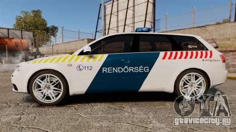 Audi S4 Avant Hungarian Police [ELS] для GTA 4 вид слева