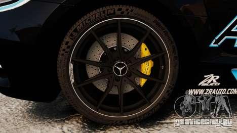 Mercedes-Benz SLS 2014 AMG Black Series Area 27 для GTA 4 вид сзади