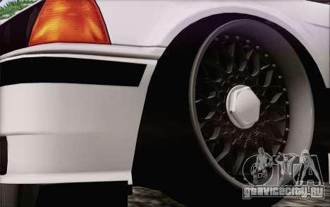 BMW M3 E36 Hellaflush для GTA San Andreas вид сзади слева