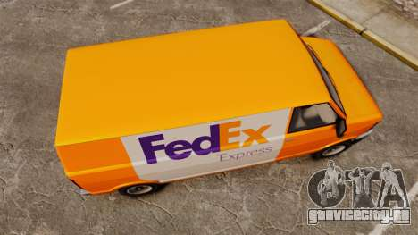 Brute Pony FedEx Express для GTA 4 вид справа