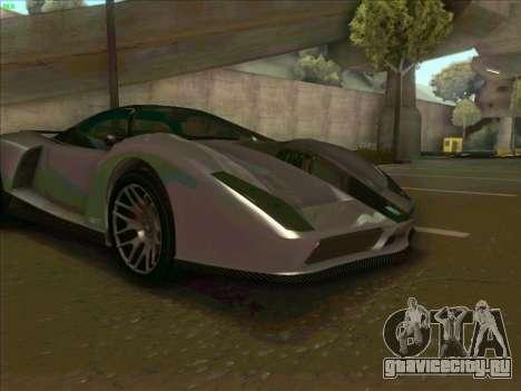 Cheetah Grotti GTA V для GTA San Andreas вид изнутри