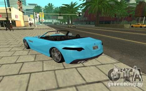 Benefactor Surano GTA V для GTA San Andreas вид сзади слева
