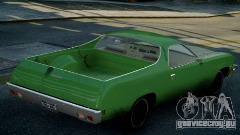 Chevrolet El Camino 1973 Old для GTA 4 вид сверху