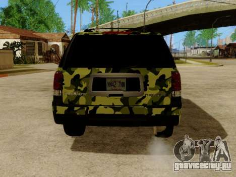 Chevrolet TrailBlazer Army для GTA San Andreas вид справа