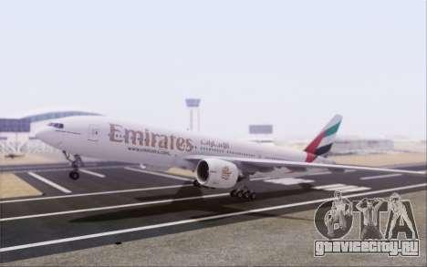 Emirates Airlines 777-200 для GTA San Andreas вид сзади слева